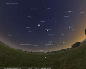 Captura do programa Stellarium