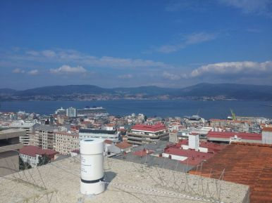 SQM na parte alta de Vigo